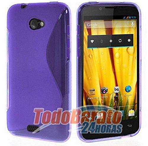Accesorios Para Teléfonos Móviles Y Pdas 1 Protector Fnac Phablet 2 5 Bq E5 Fhd Hd Funda Libro Soporte Ventana Morada Com