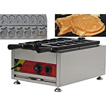 220 V 3 KW Eléctrico peces tipo Waffle máquina japonés Taiyaki Panificadora ...
