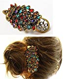 New Trendy Vintage Peacock Hair Accessor...