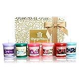 The Gift Box Duftkerze Geschenk-Set mit 6 x Kerzen Perfekt für Weihnachten. Machen Sie Duftkerzen ultimative Geschenke für Damen, Große Geschenke für Sie für die Frau (Dazzlerain)
