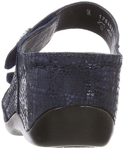Berkemann Damen Merrit Pantoletten Blau (Blau Metallic)