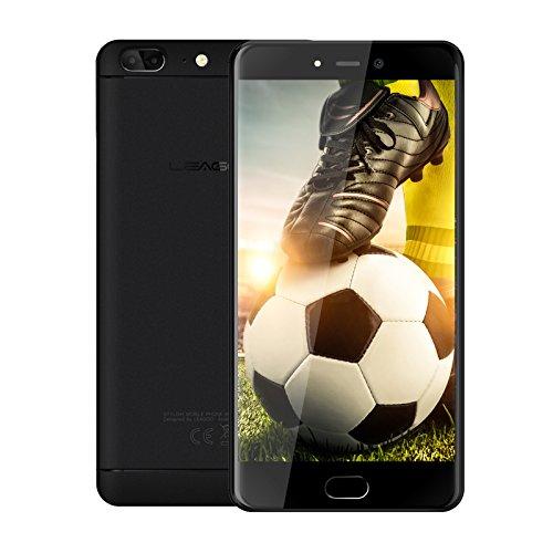 Leagoo T5 (2018) -Móviles Android Baratos Libres (Pantalla DE 5.5', Octa Core 1.5GHz, Cámaras de 13MP, RAM 4GB y ROM 64GB, Android 7.0, Red de 4G +), Negro