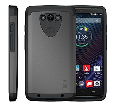 TUDIA Slim-Fit CYGEN Dual Layer Protective Case for Motorola DROID Turbo Ballistic Nylon Version Only (NOT Compatible with Metalized Glass Fiber Version) (Metallic Slate)