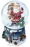 Schneekugel mit Musik Weihnachtsmann und seinen Sack der Geschenke