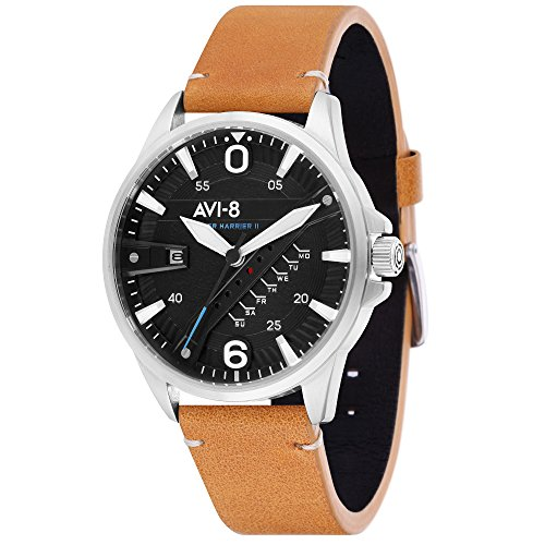 Hawker Harrier II AV-4055-01 Men's Watch – AVI-8 – Leather – 42 mm