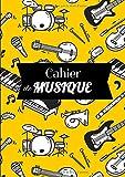 Cahier de Musique: Cahier de Musique : Livret de 60 pages A4 avec portées et lignes pour prise de notes | jaune | Parfait en école de musique, pour ... pour vos cours ou études musicales !...