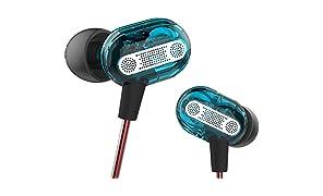 Dual driver auricolari Yinyoo Kz Zse doppio dinamico auricolari, cuffie auricolari HiFi audio in Ear isolamento acustico sport con bassi profondi elegante design