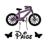 2x Girls Personalised Bike Frame Vinyl Decal Sticker Childs Kids Bicycle Name Trike - DESIGNED AND CREATED BY EPIC MODZ