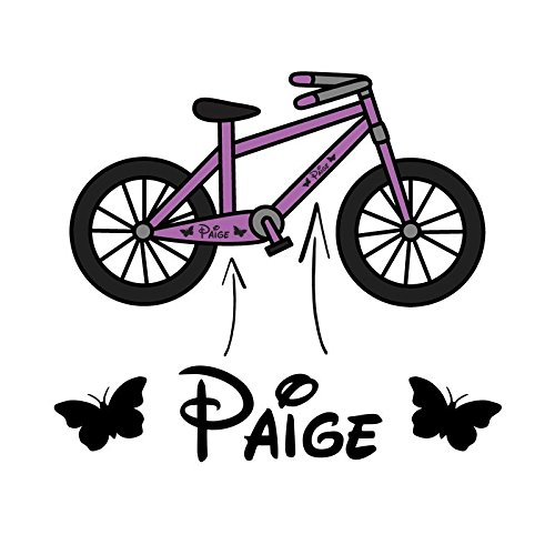 2x Mädchen Personalisiert Fahrrad Rahmen Vinyl Aufkleber Sticker Kinder Fahrrad Name Dreirad