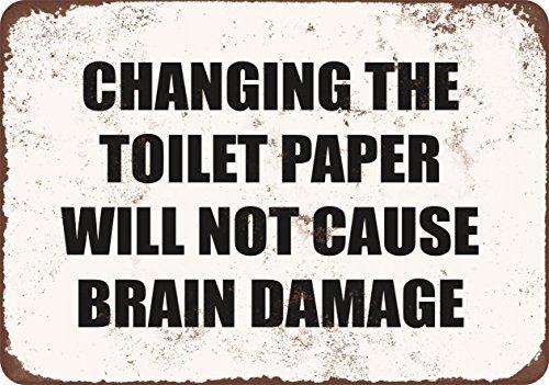 Cambiare la carta igienica non causare danni