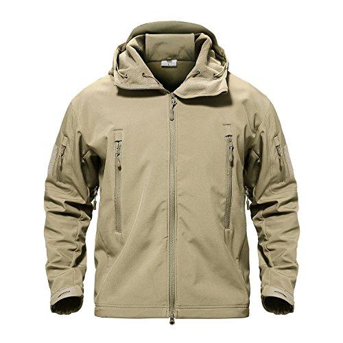 TACVASEN Herren 's Special Ops Military Tactical Soft Shell Jacke Coat, Herren, Khaki - Special Ops