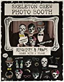Talking Tables Skeleton Crew Photobooth with Fold Frame and 24 Disguises and Props for Halloween Party and Gifts