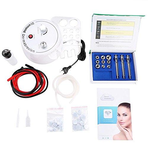 3-in-1 Gesichts-Instrument, Beauty-Maschine Dermabrasion Diamant-Mikrodermabrasion für Gesichtsstrahl, Hautverjünger, Anti-Aging, Akne