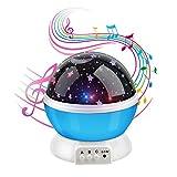 Anpress Moon Star Projektor mit 12 weiche Musik, Baby Raum Nacht Licht, 360 Grad drehbar 3 Modus leicht, USB wiederaufladbar, romantisch Zuhause Dekoration Lampe, tolles Geschenk für Weihnachten Kinder