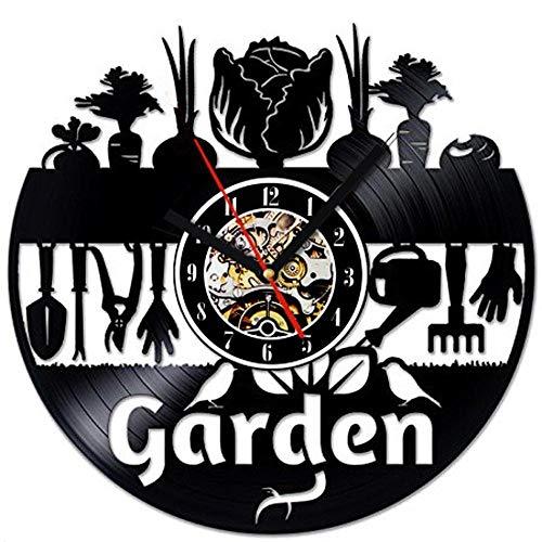 Garten Hobby Ländlichen Dekoration Schallplatte Wanduhr Diese Uhr Ist EIN Einzigartiges Geschenk Für Ihre Freunde Und Familie ()