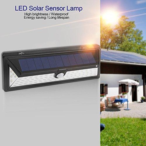 Sensor Licht, Solar Powered Beleuchtung Outdoor Wandleuchte wasserdicht Solarleuchten mit 120Grad Weitwinkel Bewegungsmelder Solar für Garten, Terrasse, Durchgang, Beleuchtung ()
