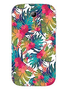 Tropical Water Colour Pattern - Hard Back Case Cover for Samsung Grand Duos - Superior Matte Finish - HD Printed Cases and Covers