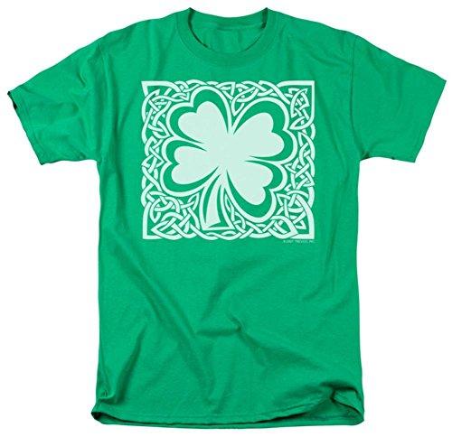 Celtic Clover Shamrock Erwachsenen-T-Shirt, alle Größen - Grün - Groß