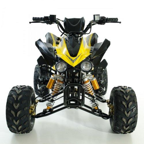 Aufgebautes Kinder Quad ATV 125 ccm ohne Straßenzulassung 5 versch. Farben Top-Qualität, Farbe:schwarz