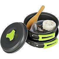 TOPQSC Juego de Utensilios de Cocina para camping Ollas Accesorios para Excursión/ Acampada/ Senderismo12