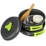 Best Camping Pots - TOPQSC Camping Pots and Pans Set Camping Pot Review