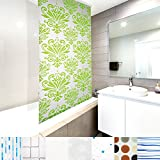 casa pura Modernes Duschrollo Damask mit Kassette | schnelltrocknendes Rollo für Dusche und Badewanne | bis zu 240 cm Länge Ausziehbar | zahlreiche Breiten Wählbar (Breite 80 cm)