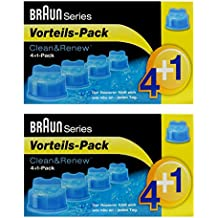 Braun Clean & Renew CCR 4 + 2 unidades Pack 4 + 1 1 – 5 x 170 ml