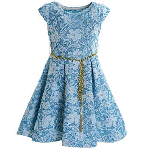 BEZLIT Mädchen Kinder Spitze Kleid Peticoatkleid Sommerkleid Festkleid Kostüm 20335 Blau Größe - Kostüm Für Zwei Freunde Mädchen