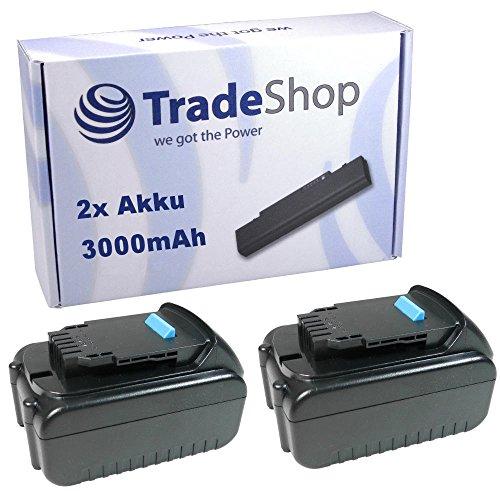 Preisvergleich Produktbild 2x Hochleistungs Li-Ion Akku 20V / 3000mAh ersetzt Dewalt DCB182 DCB183 DCB185 DCB203 DCB204 für CL3.C18S DCD771 DCD776 DCD785 DCD790 DCD790D2 DCD795 DCD980M2 DCD985 DCD985M2 DCD995