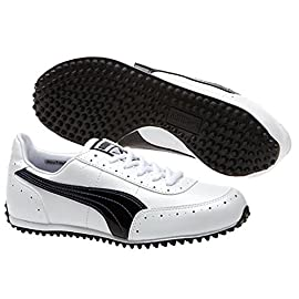 timeless design fa0ad d0ba5 Puma Cat-2 Scarpe da Golf senza tacchetti, 185836-01), colore  bianco nero,  8 UK