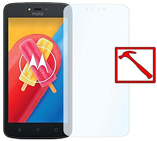 Slabo Premium Panzerglasfolie für Motorola Moto C Echtglas Bildschirmschutzfolie Schutzfolie Folie Tempered Glass KLAR - 9H Hartglas