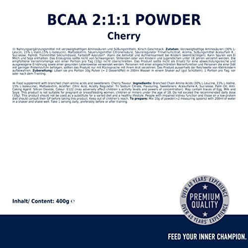 Multipower BCAA 2:1:1, Cherry Bomb, 1 x 400 g - 6