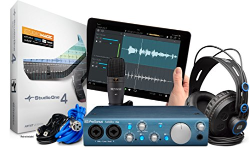 Presonus AudioBox iTwo Studio Bundle Scheda Audio USB, DAW, Microfono, Cuffie e Cavi