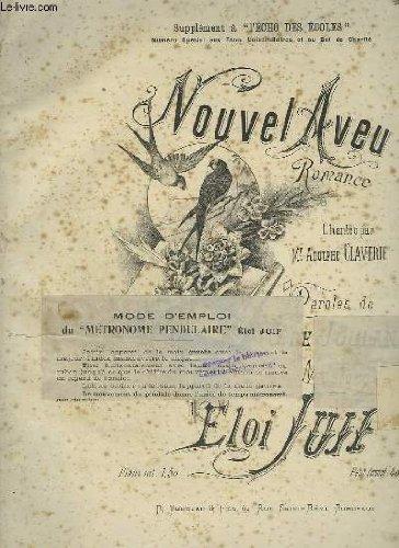 NOUVEL AVEU - ROMANCE POUR PIANO ET CHANT.