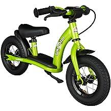 BIKESTAR® Premium 25.4cm (10 pulgada) Bicicleta sin pedales para niños de 2 años - Edición Clásico - Verde