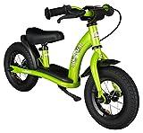 BIKESTAR Laufrad für Kinder, 2 Jahre alt, mit Luftreifen und Bremsen, 25,4 cm, Klassische Edition, brillantes Grün