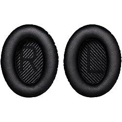 Bingle Remplacement Oreillettes en Mousse Coussin d'oreille Coussin pour Bose Calme Confort 35 QC35 Autour des écouteurs d'oreille Coussinets et Tapis de Mousse intérieure (1 Paire de Noir)