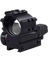 MAYMOC 4 retículas iluminación táctica rojo y verde punto reflejo vista alcance 20mm Montura
