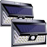 Active Era® 44 x Outdoor LED Security Light - Solar Powered with Motion Sensor - Waterproof (2 Pack)