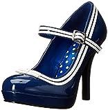 Pleaser Secret-15 Mary Jane, Tacones Mujer, Negro (Blue Patent), 37 EU (4 UK)