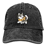 Siberian Husky Dog Baseball Caps Unique Fitted Sized Summer Hats for Adults