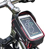 Hikenture Fahrradtasche Wasserdichte Rahmentasche mit TPU-Touchscreen, Oberrohrtasche für Fahrrad, Handyhalter Fahrrad, Geeignet für Handys bis 6 Zoll, für iPhone 7/6 Plus/8/X, Samusung S8, Huawei
