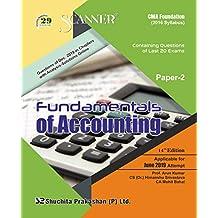 Scanner CMA Foundation (2016 Syllabus) Paper-2  : Fundamentals of Accounting