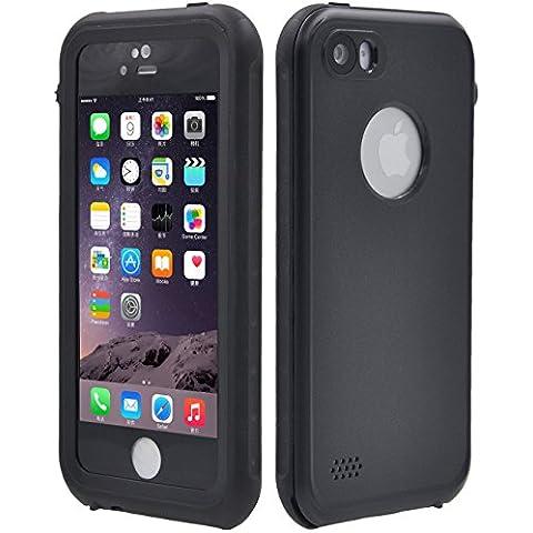 fulllight Tech iPhone 5S Funda impermeable con Touch ID Full Body Armor Protectora IPEGA Heavy Duty funda de transporte de iPhone 5S Funda con protector de