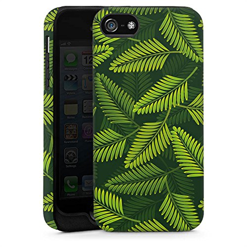 Apple iPhone 5s Housse Étui Protection Coque Palmier Plantes Plantes Cas Tough brillant