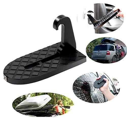 AMAES Auto Dach Türschwellen Fahrzeug Faltende Faltende Leiter Fußrasten Sicherheits Hammer Einfacher Zugang Zur Auto Dachspitze Für Jeep, SUV