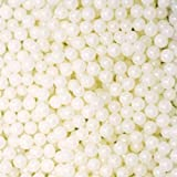 White Pearl sugar dragees 30g for cake and cookie decorations