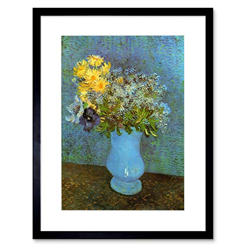 Wee Blue Coo Van Gogh Vase with Lilacs Daisies Anemone