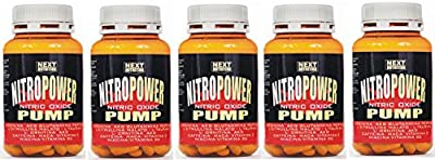 5 paks Nitro Power Pump 120 tablets stimulant nitric oxide, GH, By: akg arginine, glutamine peptide, citrulline, taurine, ornithine AKG, Vitamin C, Caffeine, Maca, Vitamin E, Niacin, Vitamin B6 from MLOitalia