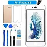 FLYLINKTECH Für iPhone 6S Display Weiß LCD Touchscreen Digitizer Ersatz Bildschirm Front Komplettes Glas mit Werkzeuge Für iPhone 6S Weiß 4.7